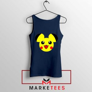 Pikachu Mickey Mouse Navy Blue Tank Top