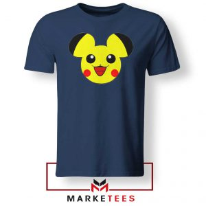 Pikachu Mickey Mouse Navy Blue Tee Shirt