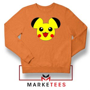 Pikachu Mickey Mouse Orange Sweater