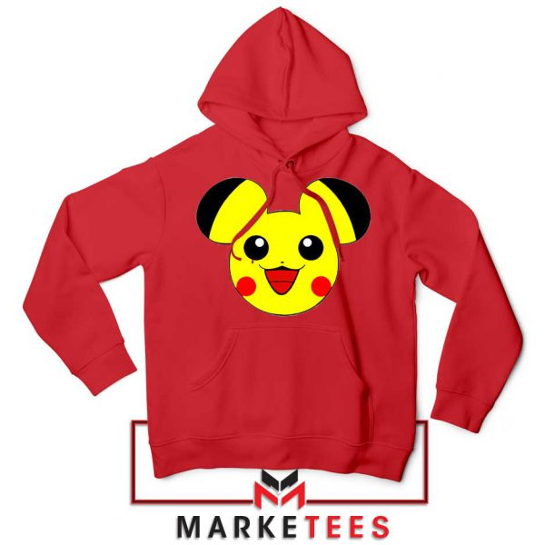 Pikachu Mickey Mouse Red Hoodie