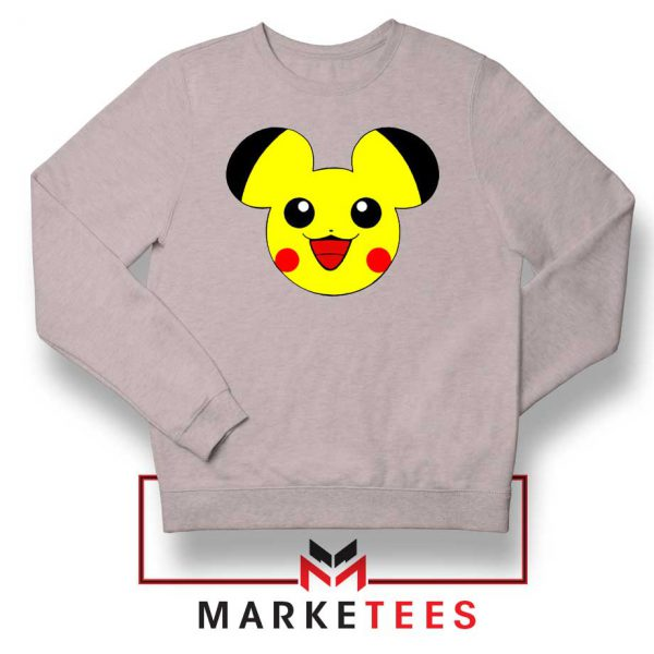 Pikachu Mickey Mouse Sport Grey Sweater