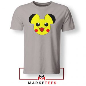 Pikachu Mickey Mouse Sport Grey Tee Shirt