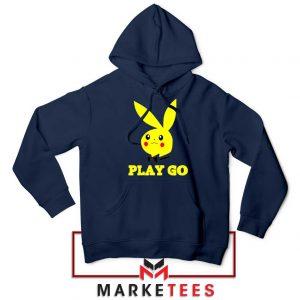 Pikachu Playboy Navy Blue Hoodie
