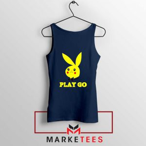 Pikachu Playboy Navy Blue Tank Top