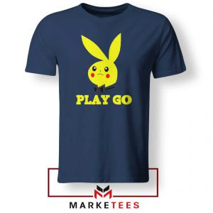 Pikachu Playboy Navy Blue Tee Shirt