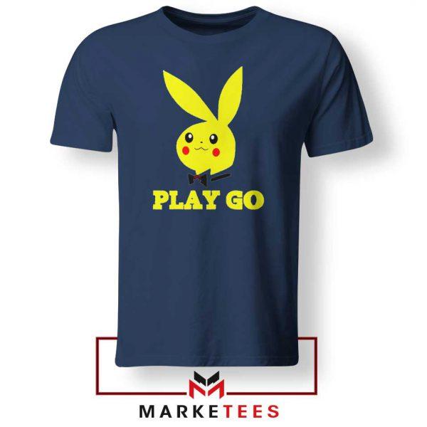 Pikachu Playboy Navy Blue Tee Shirt