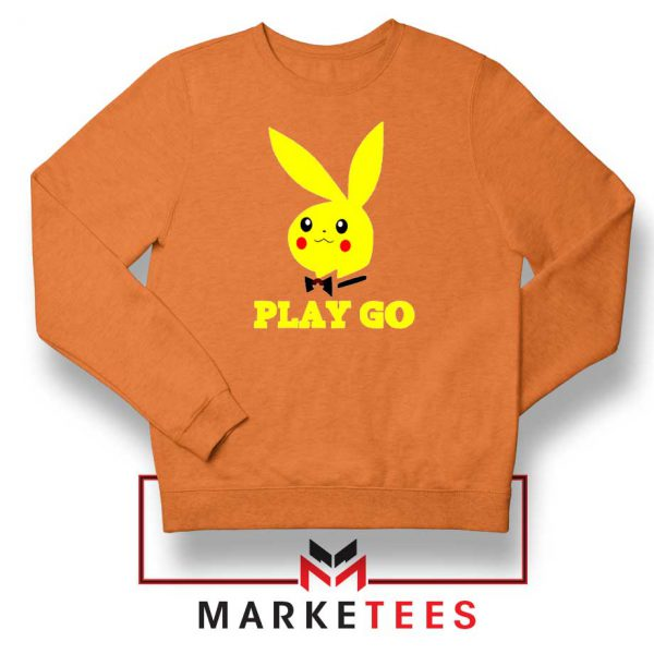 Pikachu Playboy Orange Sweatshirt