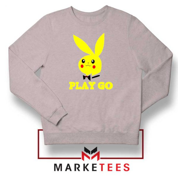 Pikachu Playboy Sport Grey Sweatshirt
