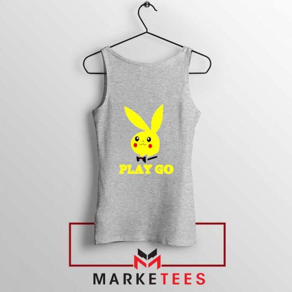 Pikachu Playboy Sport Grey Tank Top