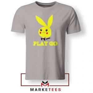 Pikachu Playboy Sport Grey Tee Shirt