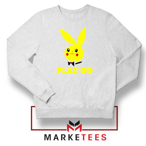 Pikachu Playboy White Sweatshirt