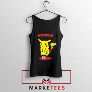Pikachu Zombiechu Black Tank Top