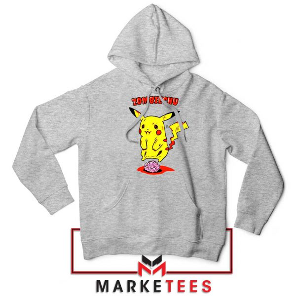 Pikachu Zombiechu Sport Grey Hoodie