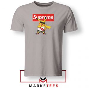 Pokemon Supreme Sport Grey Tee Shirt