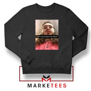 Post Malone American Singer Black Sweatshirt