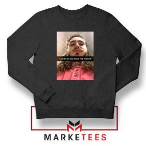 Post Malone American Singer Black Sweatshirt