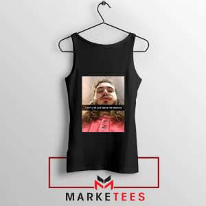 Post Malone American Singer Black Tank Top