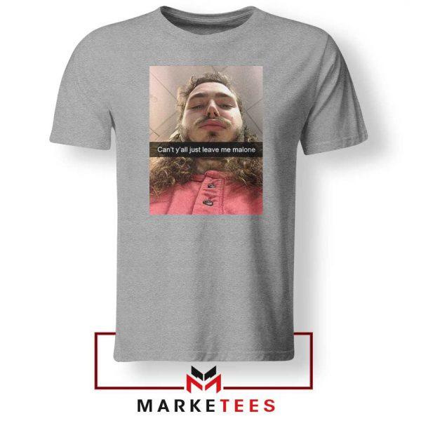 Post Malone American Singer Grey Tshirt