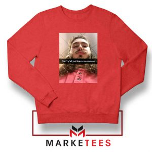 Post Malone American Singer Red Sweatshirt