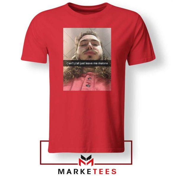 Post Malone American Singer Red Tshirt