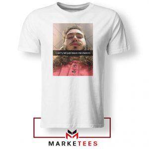 Post Malone American Singer White Tshirt