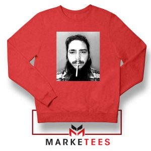 Post Malone Cigarette Red Sweatshirt