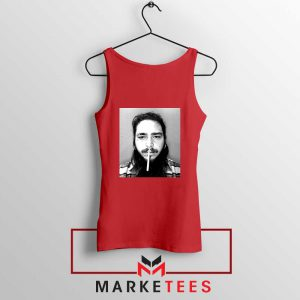 Post Malone Cigarette Red Tank Top