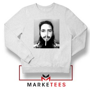 Post Malone Cigarette White Sweatshirt
