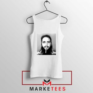 Post Malone Cigarette White Tank Top