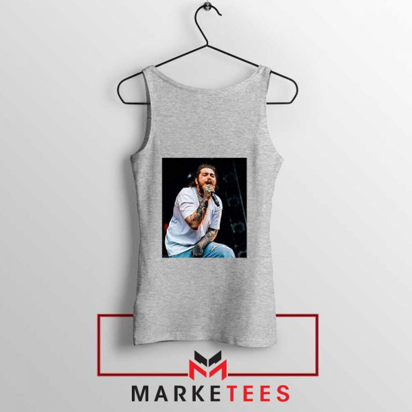 Post Malone Concert Grey Tank Top