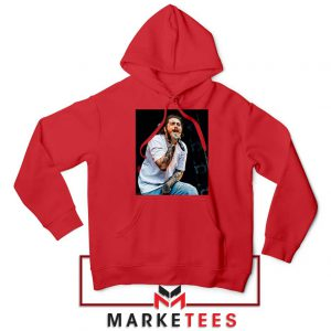 Post Malone Concert Red Hoodie