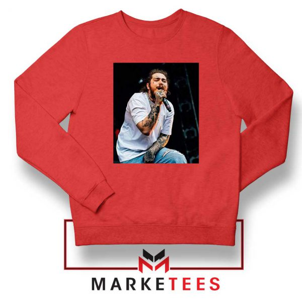Post Malone Concert Red Sweater