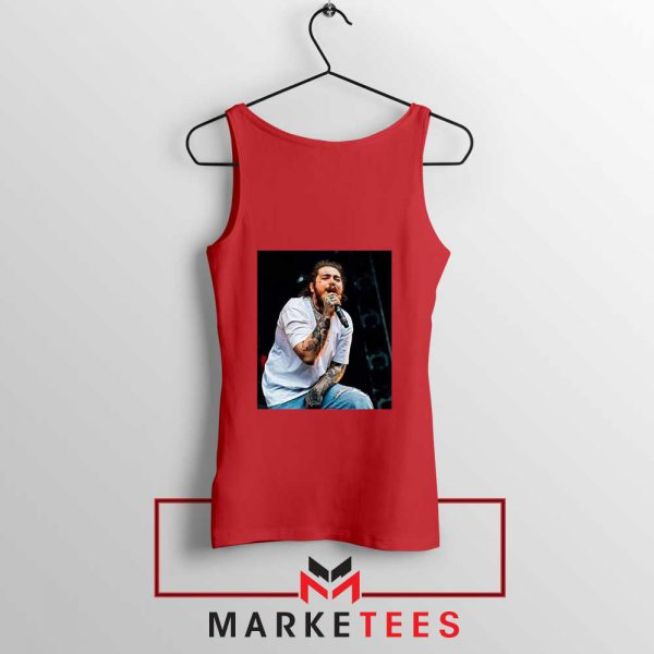 Post Malone Concert Red Tank Top