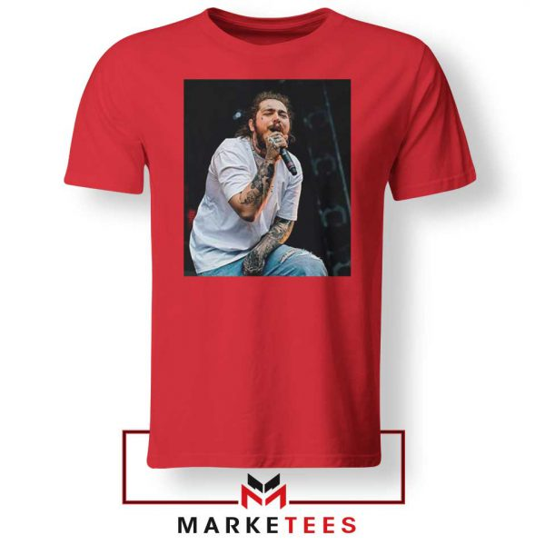 Post Malone Concert Red Tshirt