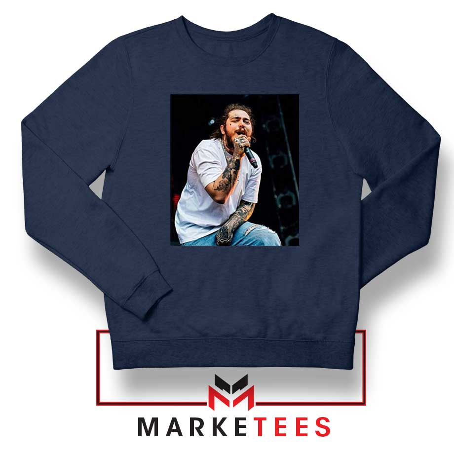Post Malone Concert: Post Malone Concert Sweater American Singer Sweatshirts S-2XL