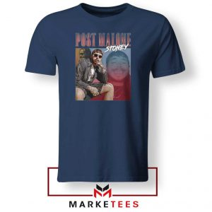 Post Malone Hollywood Bleeding Navy Tee Shirts