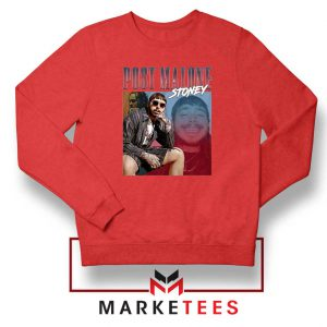 Post Malone Hollywood Bleeding Red Sweatshirt