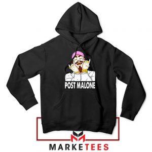 Post Malone Pink Hat Black Hoodie