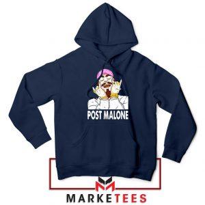 Post Malone Pink Hat Navy Hoodie