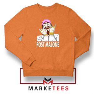 Post Malone Pink Hat Orange Sweater