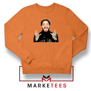 Post Malone Stoney Orange Sweater