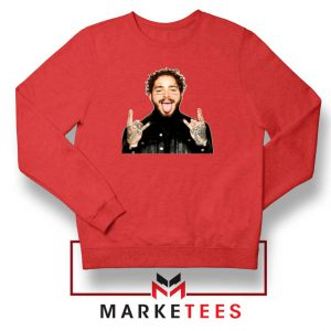 Post Malone Stoney Red Sweater