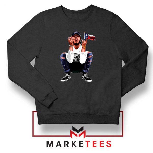 Post Malone White Iverson Black Sweatshirt
