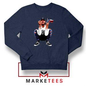 Post Malone White Iverson Navy Sweatshirt