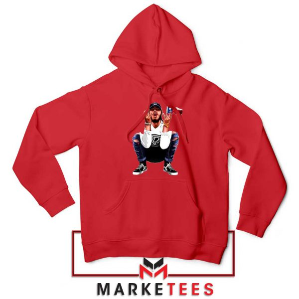Post Malone White Iverson Red Hoodie