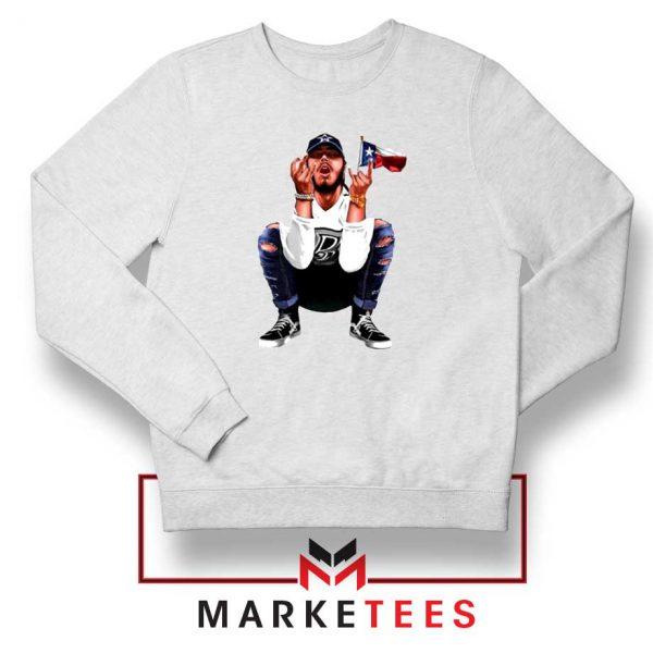 Post Malone White Iverson Sweatshirt