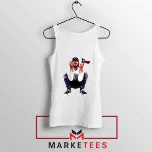 Post Malone White Iverson Tank Top