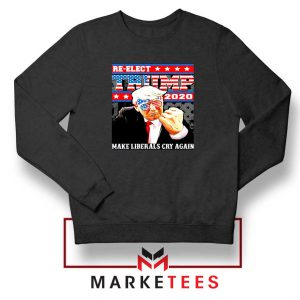 Reelect Donald Trump 2020 Black Sweater
