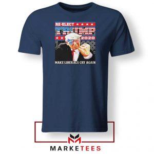 Reelect Donald Trump 2020 Navy Tee Shirt