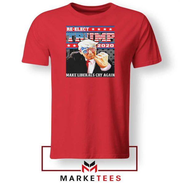 Reelect Donald Trump 2020 Red Tee Shirt